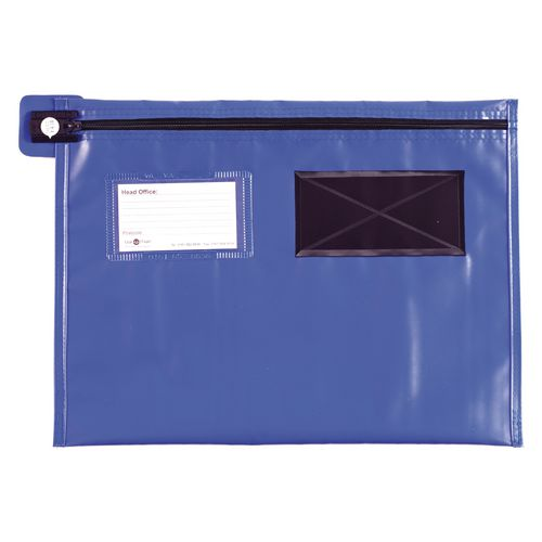 Long Zip Flat Pouch Blue 457x356mm
