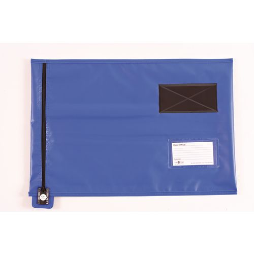 Short Zip Flat Pouch Blue 470x355mm