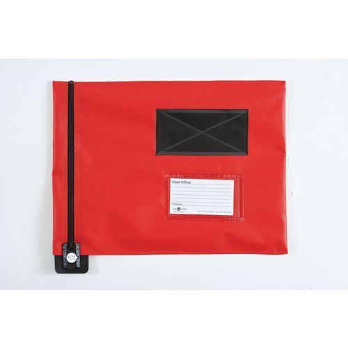 Short Zip Flat Pouch Red 336x286mm