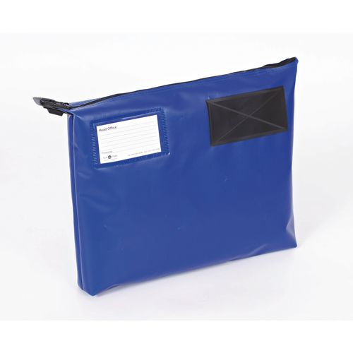 Bottom Gusset Pouch Blue 380x335x75mm