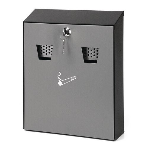 Grey Metal Wall Mounted Ash Bin