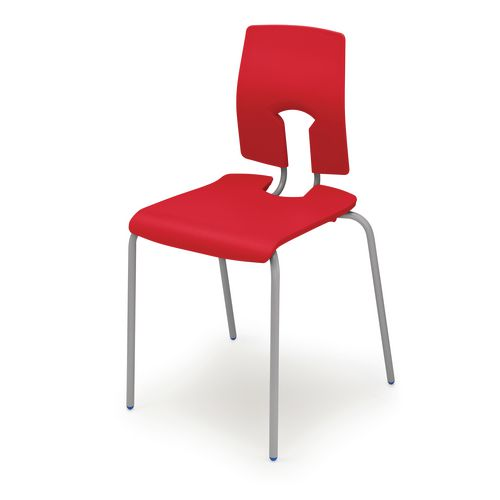 Set Of 8xSe Chair 4 Leg Size 6 Seat Height 460mm Red