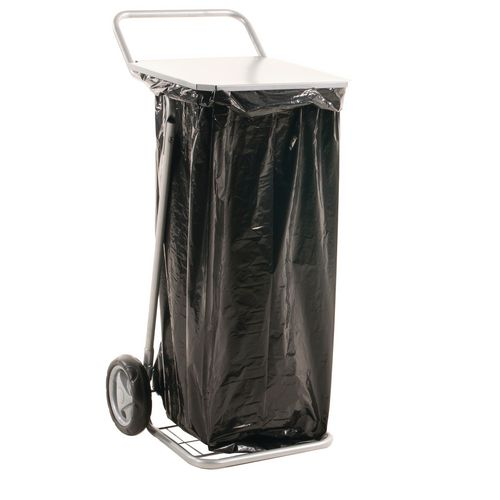 Mobile Sackholder With Lid To Suit 125 Litre Plastic Sack. L X W X H 580 X 470 X 940mm. Capacity 50Kg