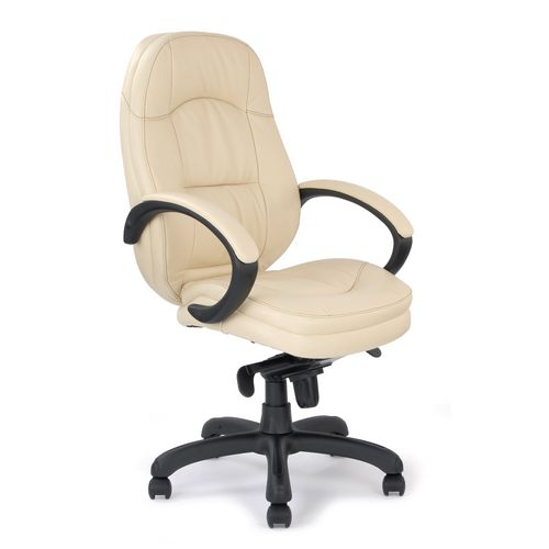 Brighton Cream Leather Faced Managers Chair