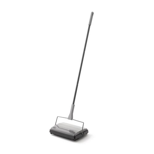 Multi Surface Floor Sweeper Large Capacity Waste Collectors Folds Flat For Ease Of Storage