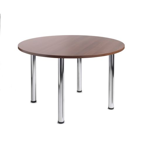 Turin Round Meeting Leisure Table Walnut H:725 Dia:1000