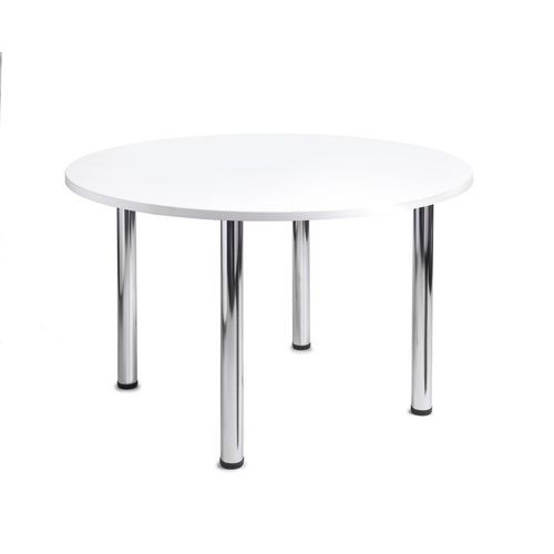 Turin Round Meeting Leisure Table White H:725 Dia:1000