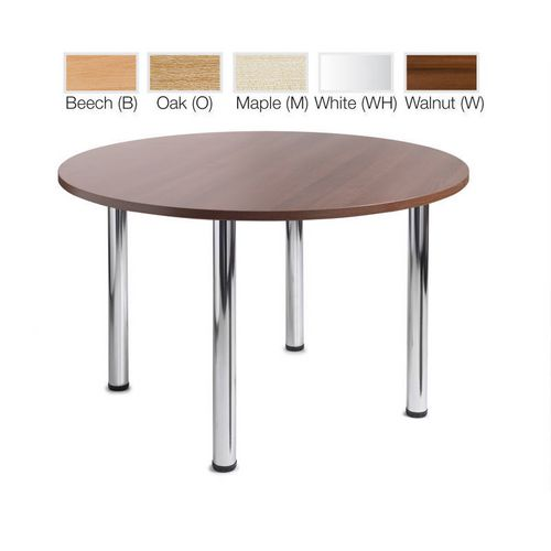 Turin Round Meeting Leisure Table Oak H:725 Dia:1200