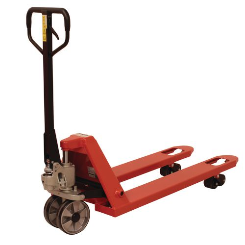 3 Tonne Pallet Truck 685x1220 Poly Front Wheels &Tandem Poly Rollers