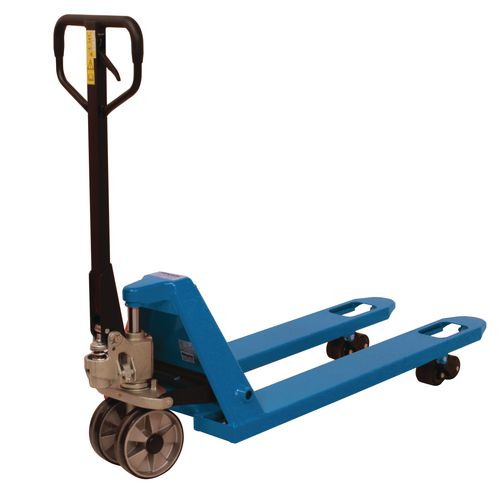 2 Tonne Quick Lift Pallet Truck 540x1150 Rubber Front Wheels &Tandem Poly Rollers