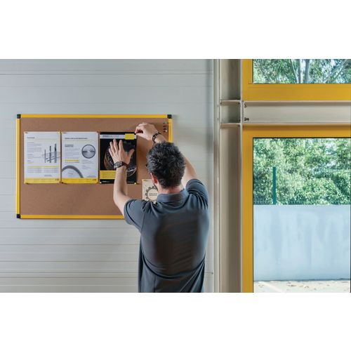Yellow Maya Frame Cork Noticeboard 1500X1000