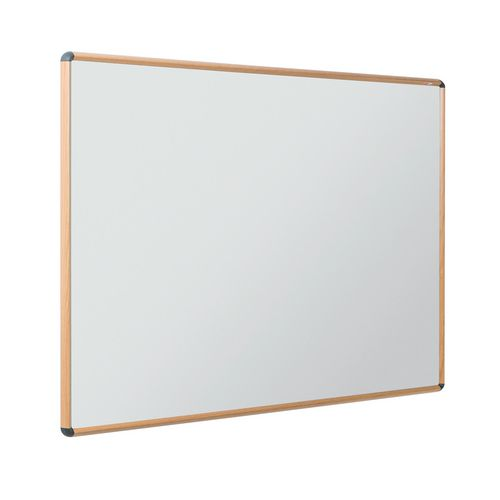 Shield Design Wood Effect Magnetic Whiteboard 1200 x 900