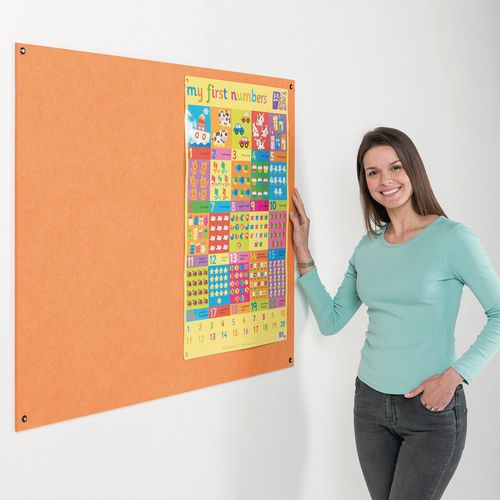Eco-Colour Frameless Resist-A-Flame Board 600x900mm Orange