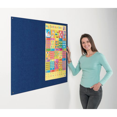 Eco-Colour Frameless Resist-A-Flame Board 900x1200mm Blue