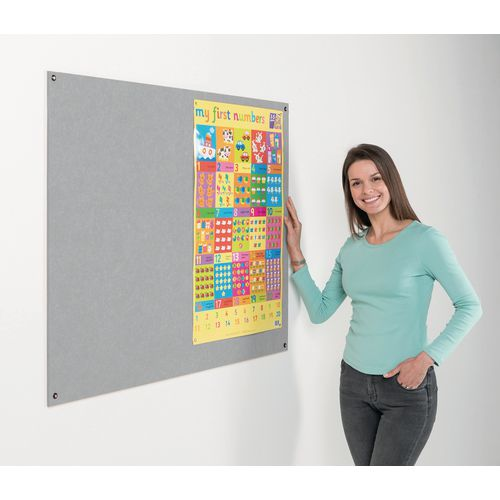 Eco-Colour Frameless Resist-A-Flame Board 900x1200mm Grey