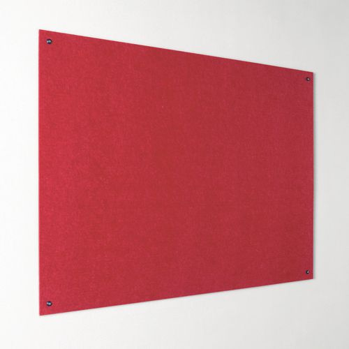 Eco-Colour Frameless Resist-A-Flame Board 1200x1200mm Red