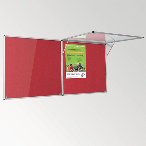 Eco-Colour Corridor Resist-A-Flame Tamperproof Board 900x1800mm Red