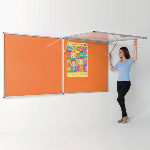 Eco-Colour Corridor Resist-A-Flame Tamperproof Board 900x1800mm Orange
