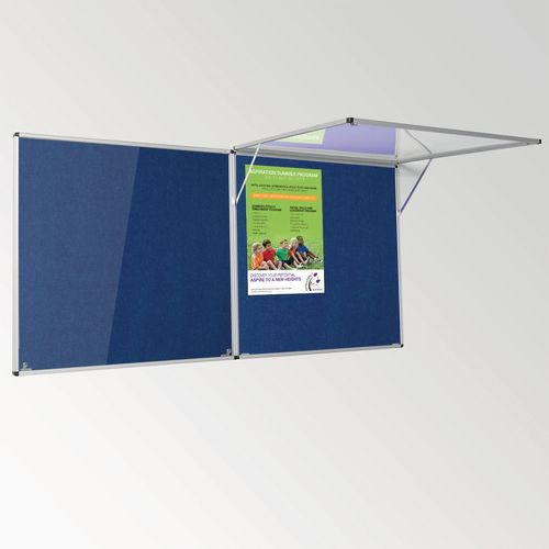 Eco-Colour Corridor Resist-A-Flame Tamperproof Board 1200x1800mm Blue