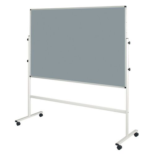 Double Sided Light Grey Mobile Noticeboard 2030mm High Board Dims HxW: 1200x1200mm