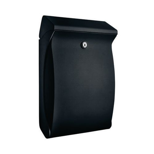 Compact Post Box High Quality Plastic. Weather Resistant. Front Opening. W271xH419xD129mm. Black