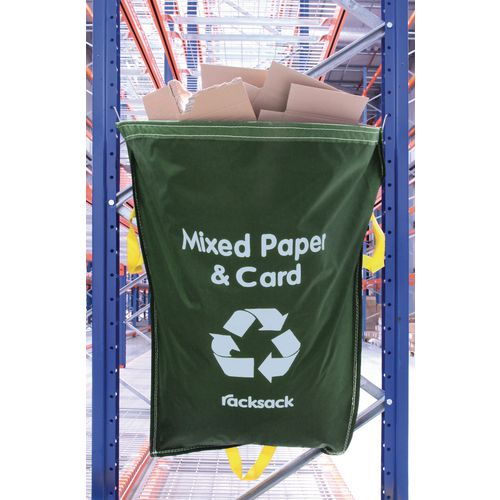 Mixed Paper And Card Waste Green Racksack Pk 10