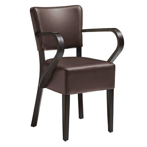 Club Arm Chair Za.390C Wenge &Brown