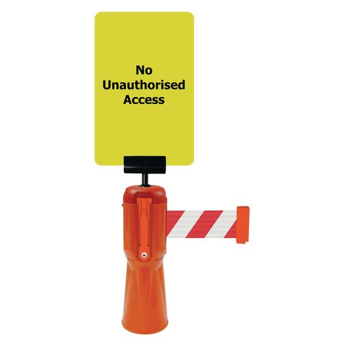 Tensacone Sign Holder And No Unauthorised Access Sign