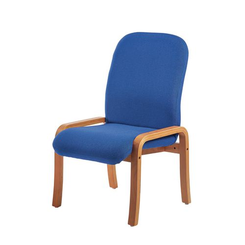 Yealm Modular Wooden Frame Reception Chair In Blue No Arms