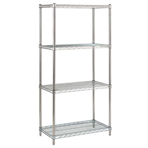 Stainless Steel Shelving HxWxDmm 1650x900x400 With 4 Shelves