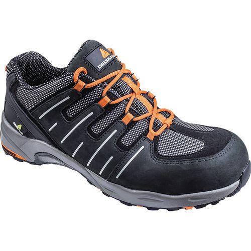 Nylon Mesh/Nubuck Leather Shoe Black Uk Size 8 Eu Size 42