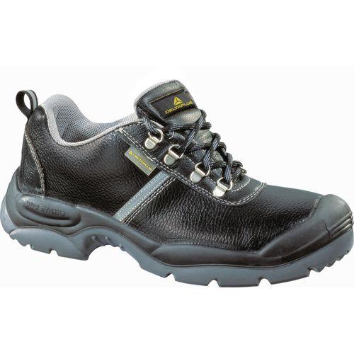 Montbrun Shoe In Pigmented Leather Black Uk Size 12 Eu Size 47