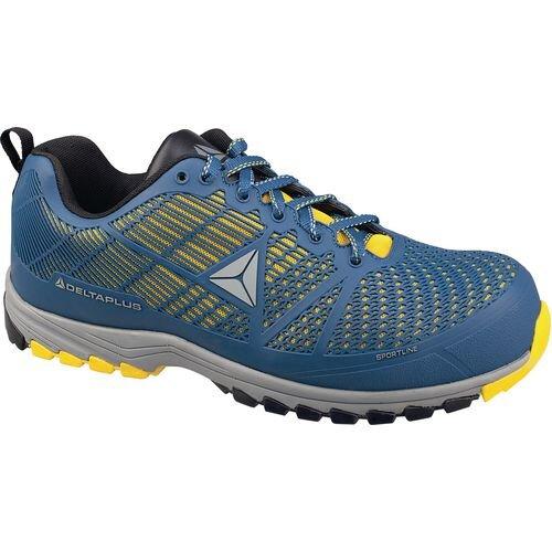 Delta Sport Premium Comfort Sports Style Safety Trainer Blue/Yellow Uk Size 8 Eu