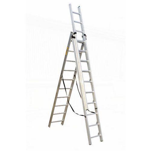 3 Section Aluminium Combination Ladder 3X7 Treads En131 150Kg