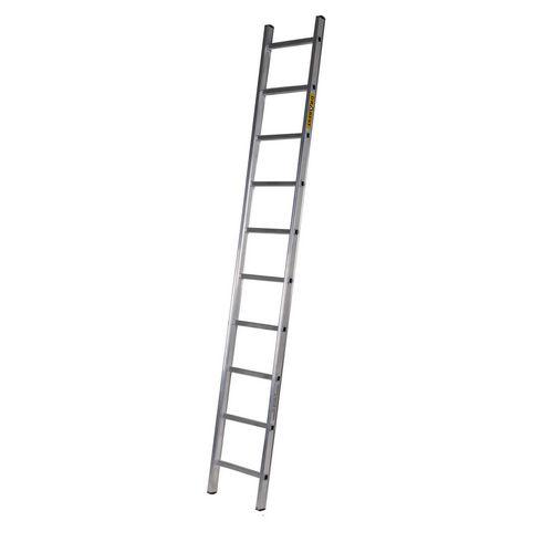 Single Aluminium Ladder 10 Tread En131 150Kg Capacity