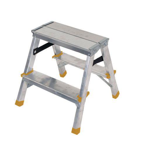 Double Sided Aluminium Step 2 Tread En131 150Kg Capacity