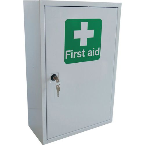 Metal First Aid Cabinet 46cmx30cmx14cm Empty