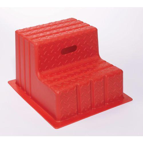 Plastic Step 2 Tread Red