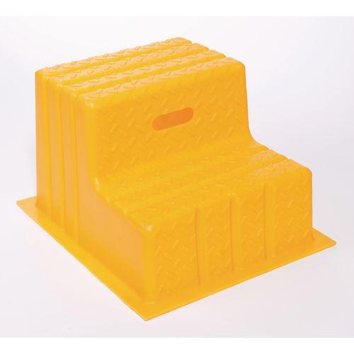 Plastic Step 2 Tread Yellow