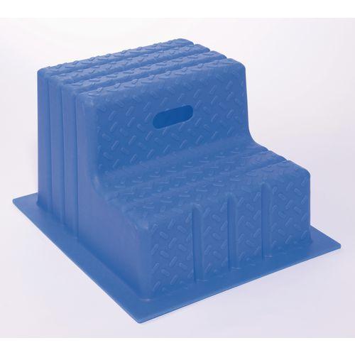 Plastic Step 2 Tread Blue