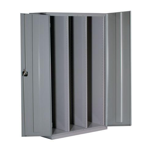 Lockable Tray Storage Cupboard 3 Columns Adjustable Empty