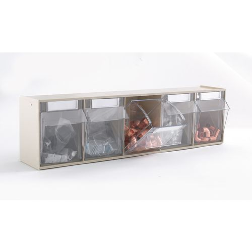 Clear Tilting Drawer Unit 5 Drawer (Pack Of 5)