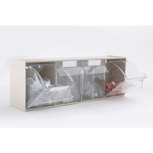 Clear Tilting Drawer Unit 4 Drawer (Pack Of 4)
