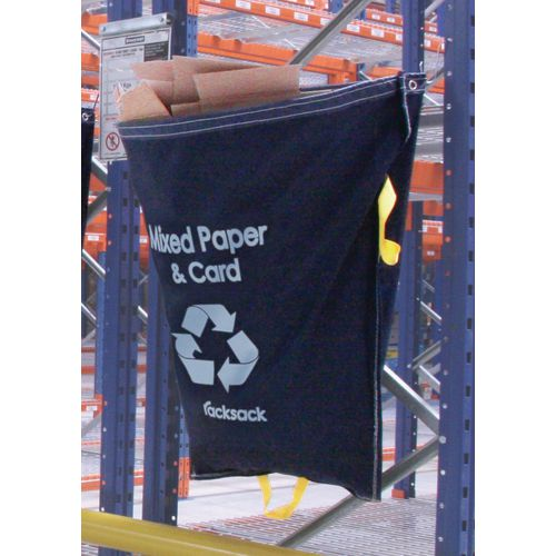 Blue Racksack for Recycling Symbol