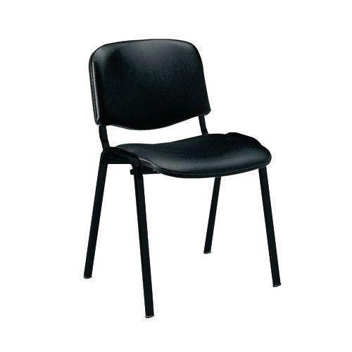 Iso -Black Vinyl Stacking Chair Pk 10