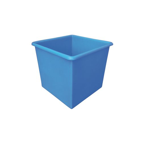Rectangular Food Grade Plastic Storage Box With Tapered Sides 72L L460xW460xH435mm Blue