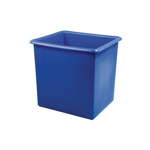 Rectangular Food Grade Plastic Storage Box With Tapered Sides 100L L630xW515xH440mm Blue