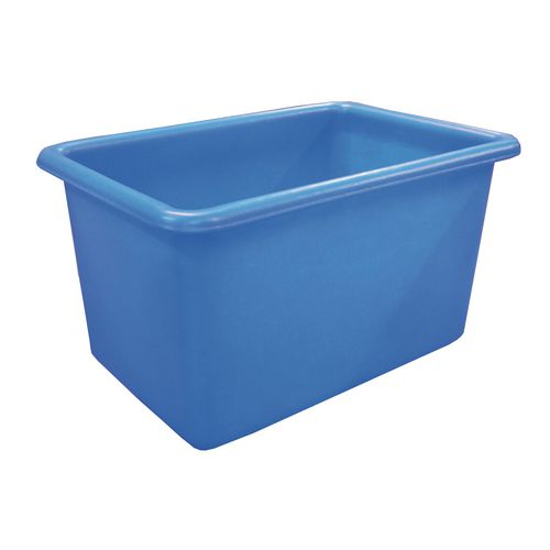 Rectangular Food Grade Plastic Storage Box With Tapered Sides 320L L1010xW685xH635mm Blue