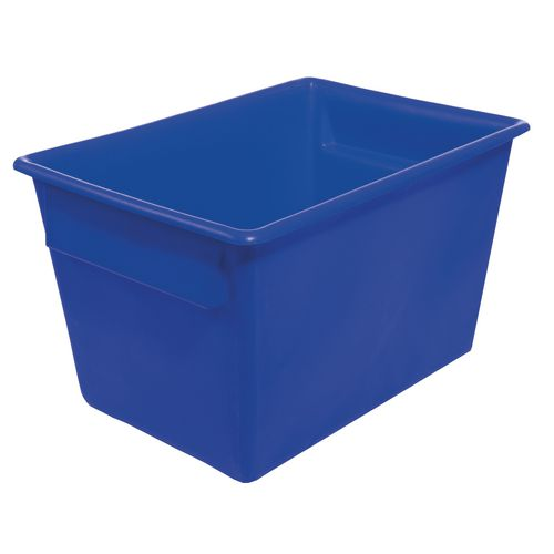 Rectangular Food Grade Plastic Storage Box With Tapered Sides 370L L1040xW730xH615mm Blue