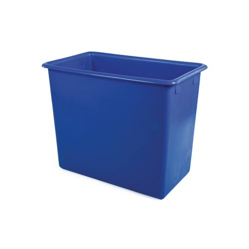 Rectangular Food Grade Plastic Storage Box With Tapered Sides 455L L1345xW730xH630mm Blue